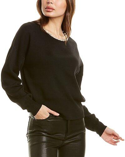 Rue La La — In2 by InCashmere Pearl Necklace Wool-Blend Sweater