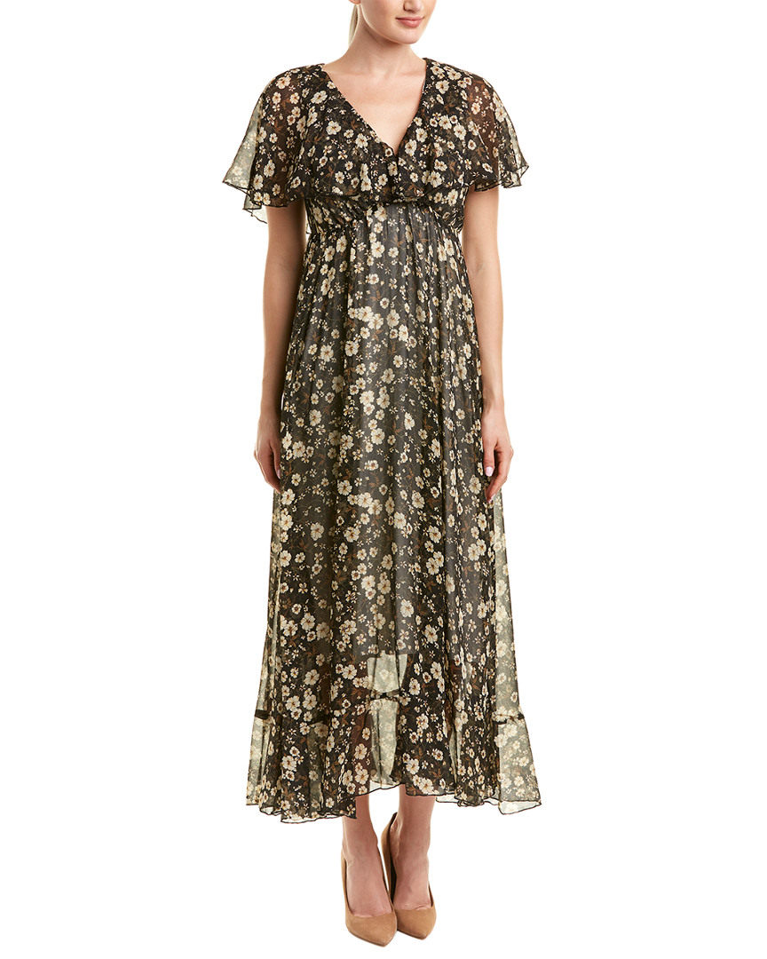 POKWAI Silk Maxi Dress