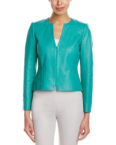 Lafayette 148 New York Abrina Leather Jacket