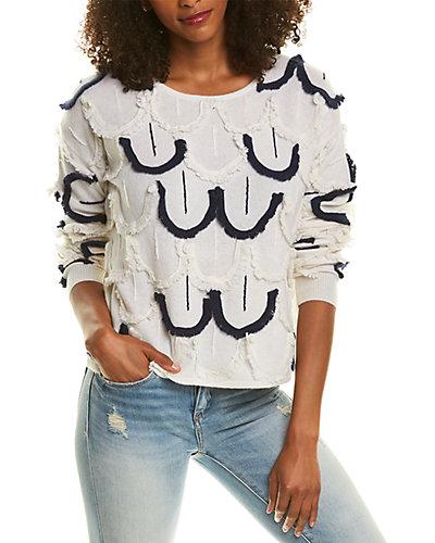 Rue La La — Magaschoni Fringe Cashmere & Wool-Blend Sweater