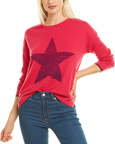 Rue La La — Kier + J Textured Star Cashmere Sweater