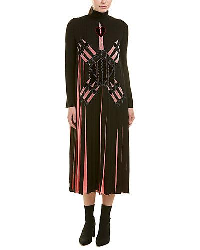 Rue La La — Valentino Garavani Pleated Silk Midi Dress