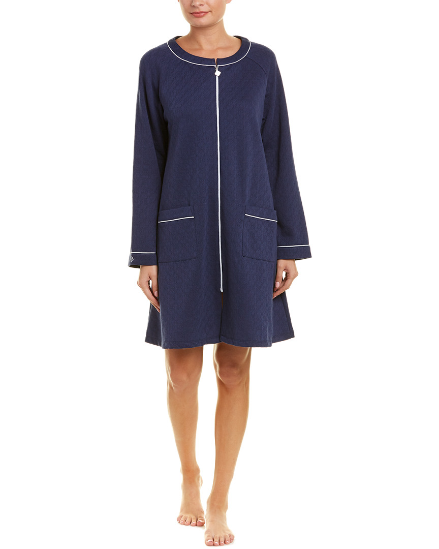 Eileen West SHORT ZIP ROBE