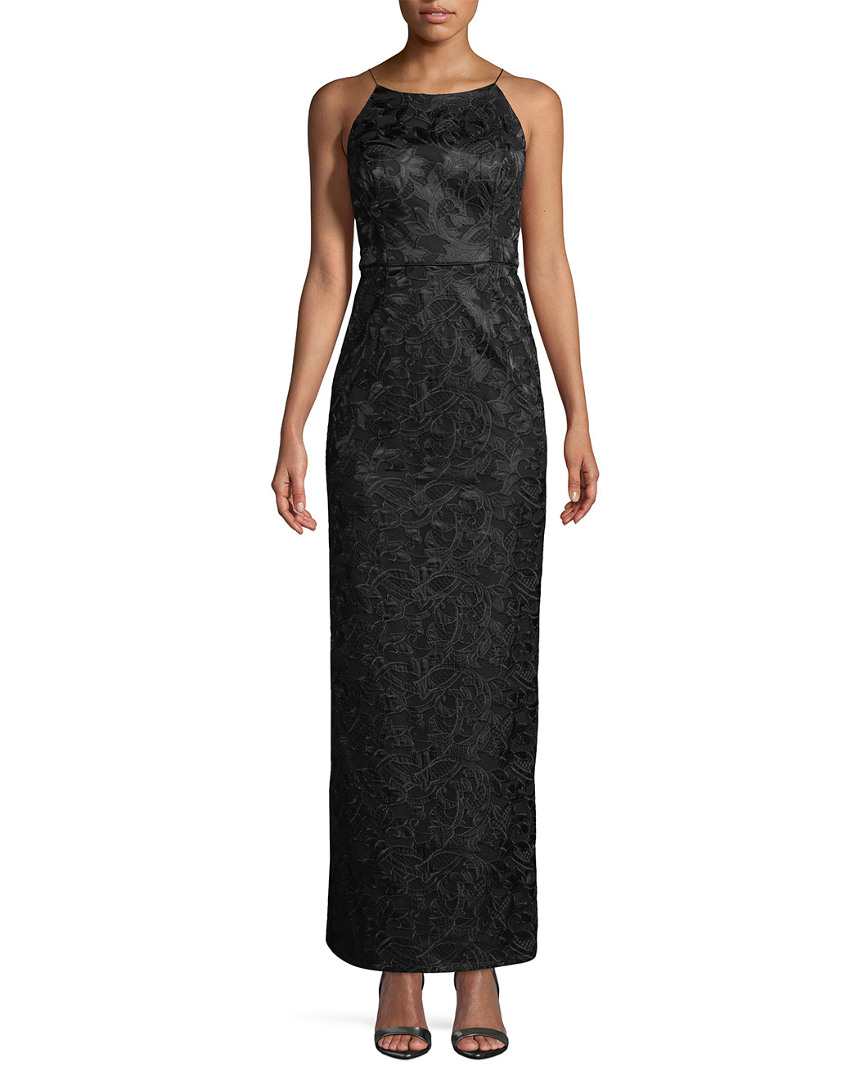 Aidan Mattox Womens  Jacquard Floral Dress, 2
