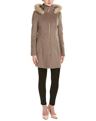 T Tahari Wool-Blend Coat