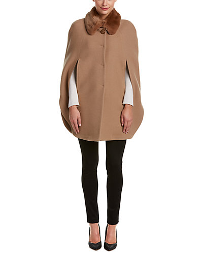 Cinzia Rocca Icons Wool-Blend Short Cape