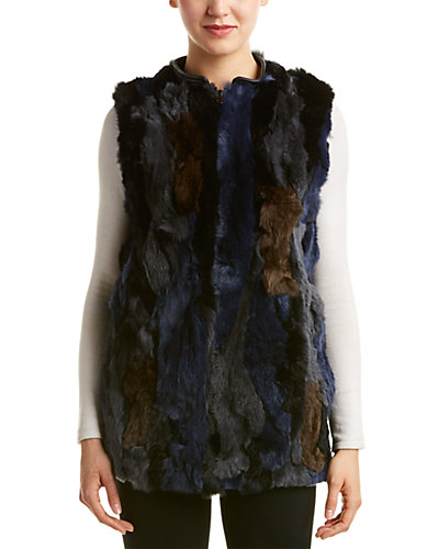 Love Token Leather-Trim Vest