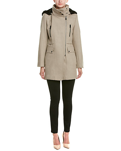 Marc New York Ella Asymmetrical Wool-Blend Coat