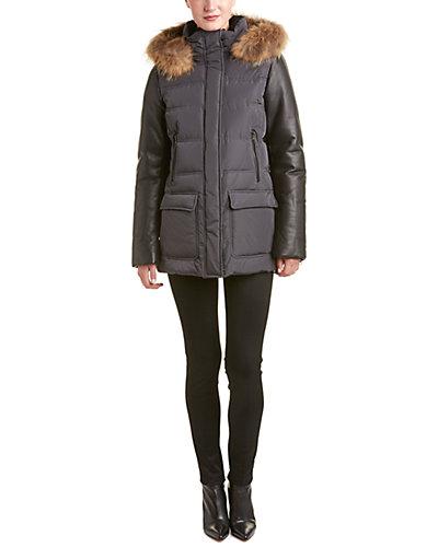 Mackage Orla Leather-Trim Down Coat