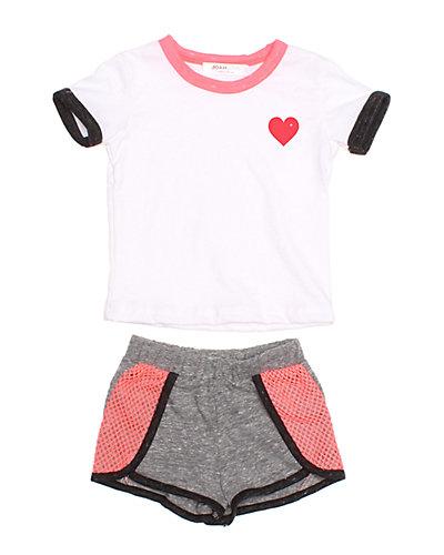 Rue La La — Joah Love Heart Print Infant Set