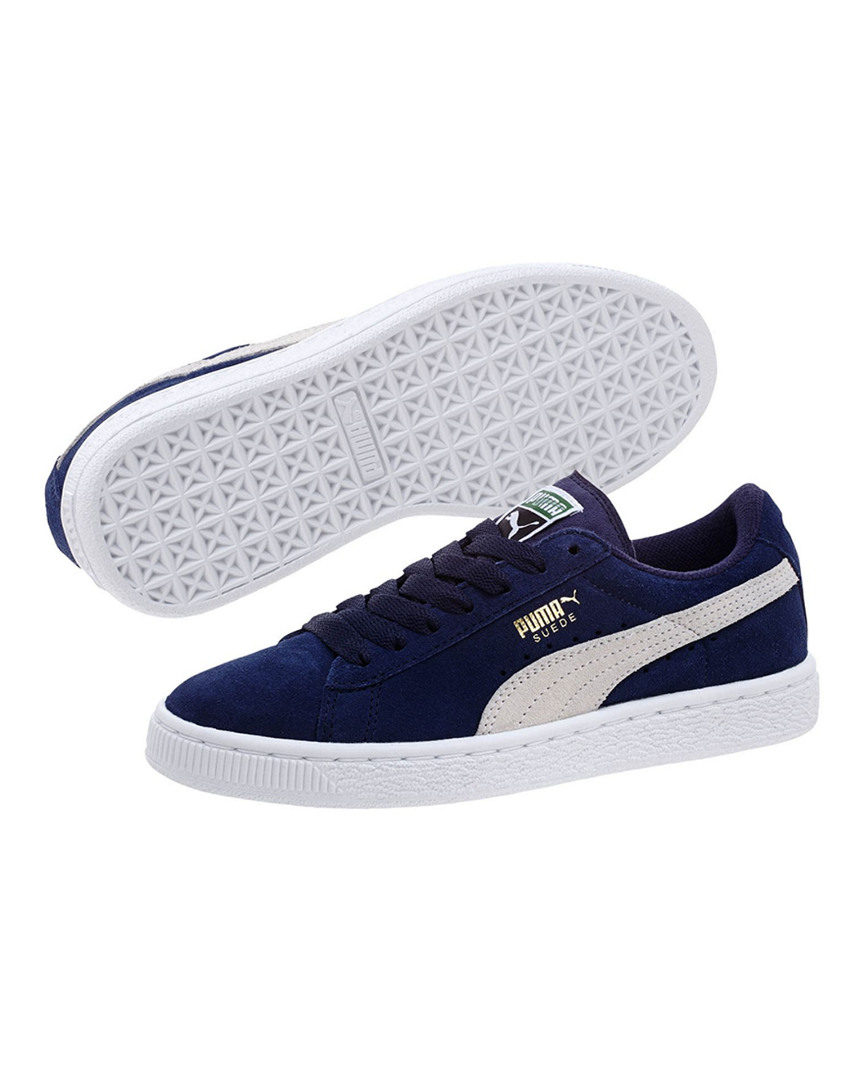 PUMA Suede Preschool SNEAKERS 13.5 Peacoat-puma Team Gold Boys. About this  product. 3 watching. Picture 1 of 4; Picture 2 of 4; Picture 3 of 4 ...