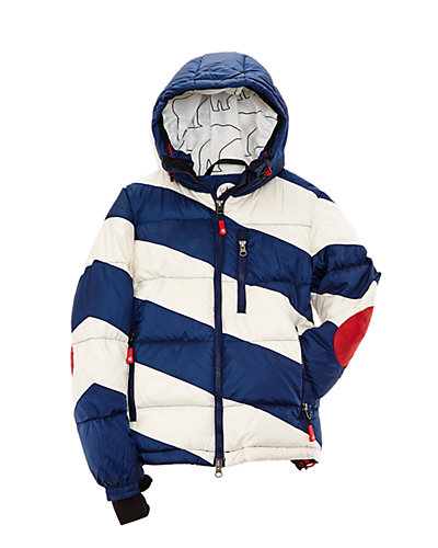 PERFECT MOMENT Kids' Blue Striped Super Mojo Jacket