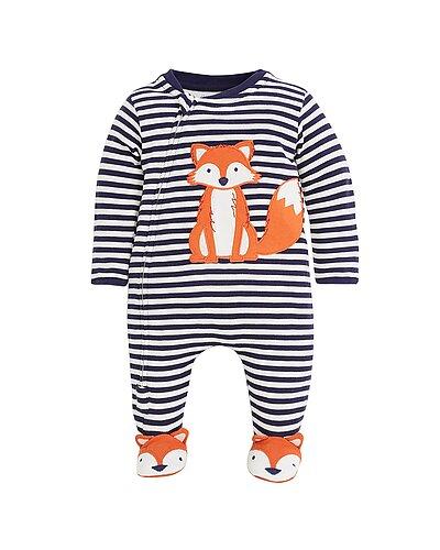 Rue La La — JoJo Maman Bébé Fox Applique Zip Sleepsuit