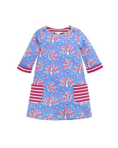 Rue La La — JoJo Maman Bebe Peacock Print Dress