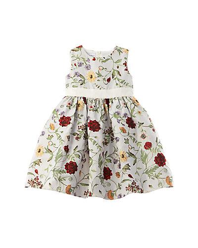 Rue La La — Oscar de la Renta Mixed Botanical Jacquard Dress