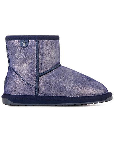 Rue La La — EMU Australia Wallaby Mini Metallic Suede & Wool Boot