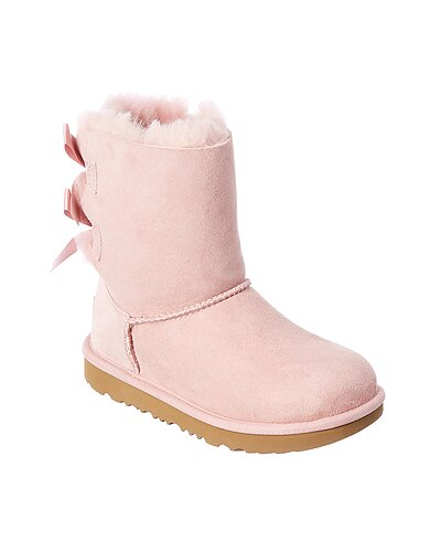 Rue La La — UGG Kids Bailey Bow II Suede Boot