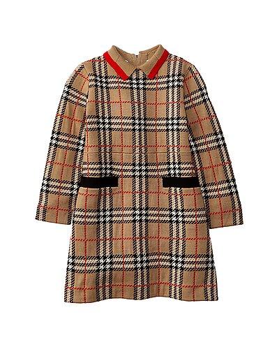 Rue La La — Burberry Vintage Check Jacquard Wool Dress