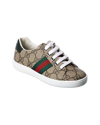 Rue La La — Gucci GG Supreme Canvas & Leather Sneakers