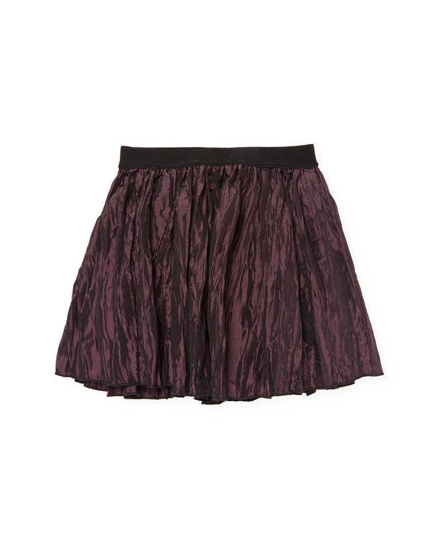 ABSTRACT ROLLED HEM SKIRT