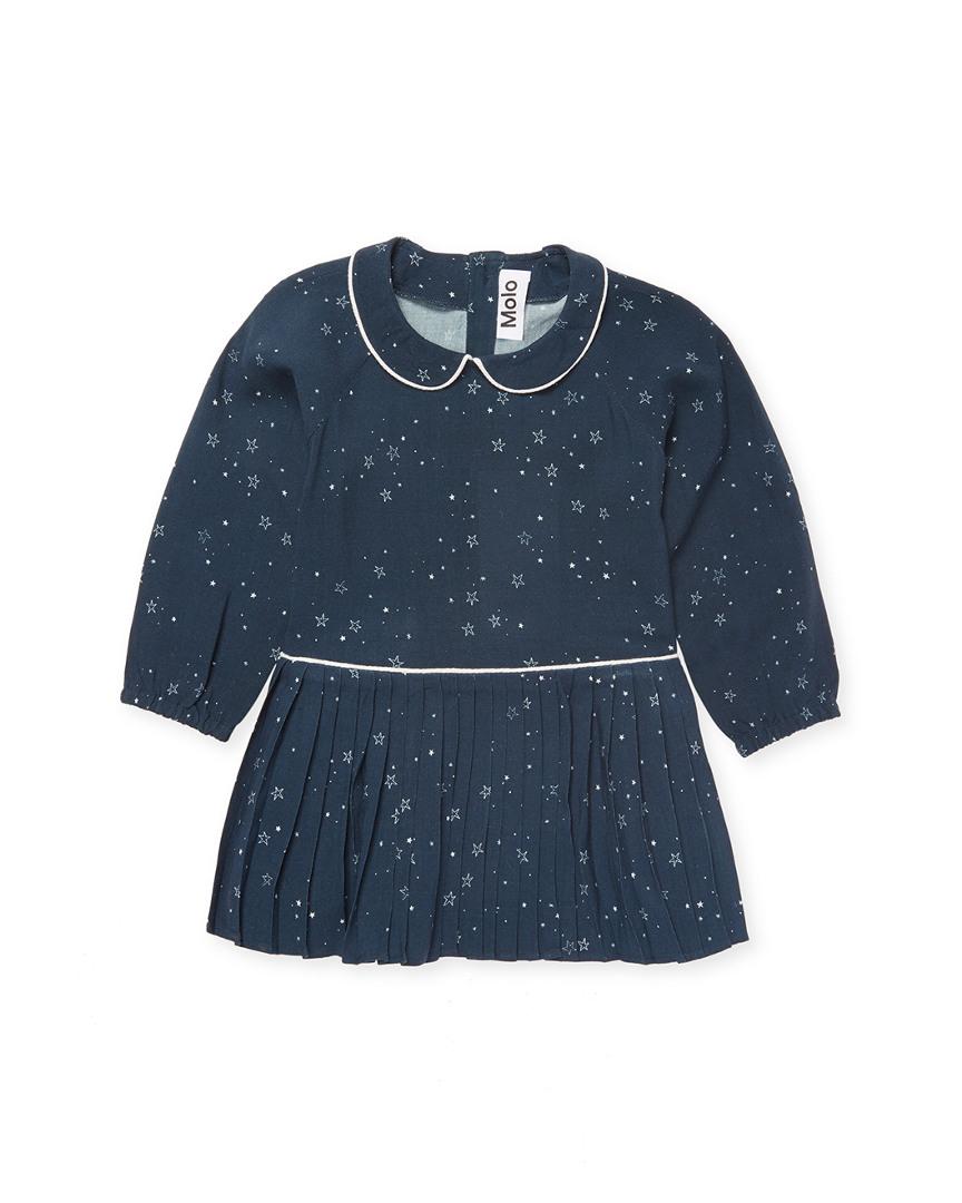 PLEATED STAR PRINT DRESS