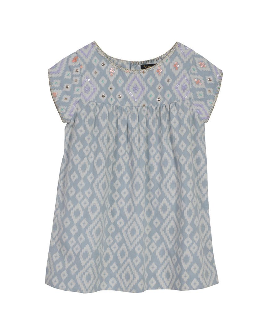 SEQUINED & GEOMETRIC SHIFT DRESS