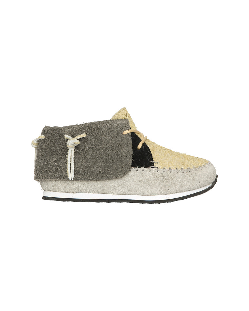 STONE SUEDE MOCCASIN