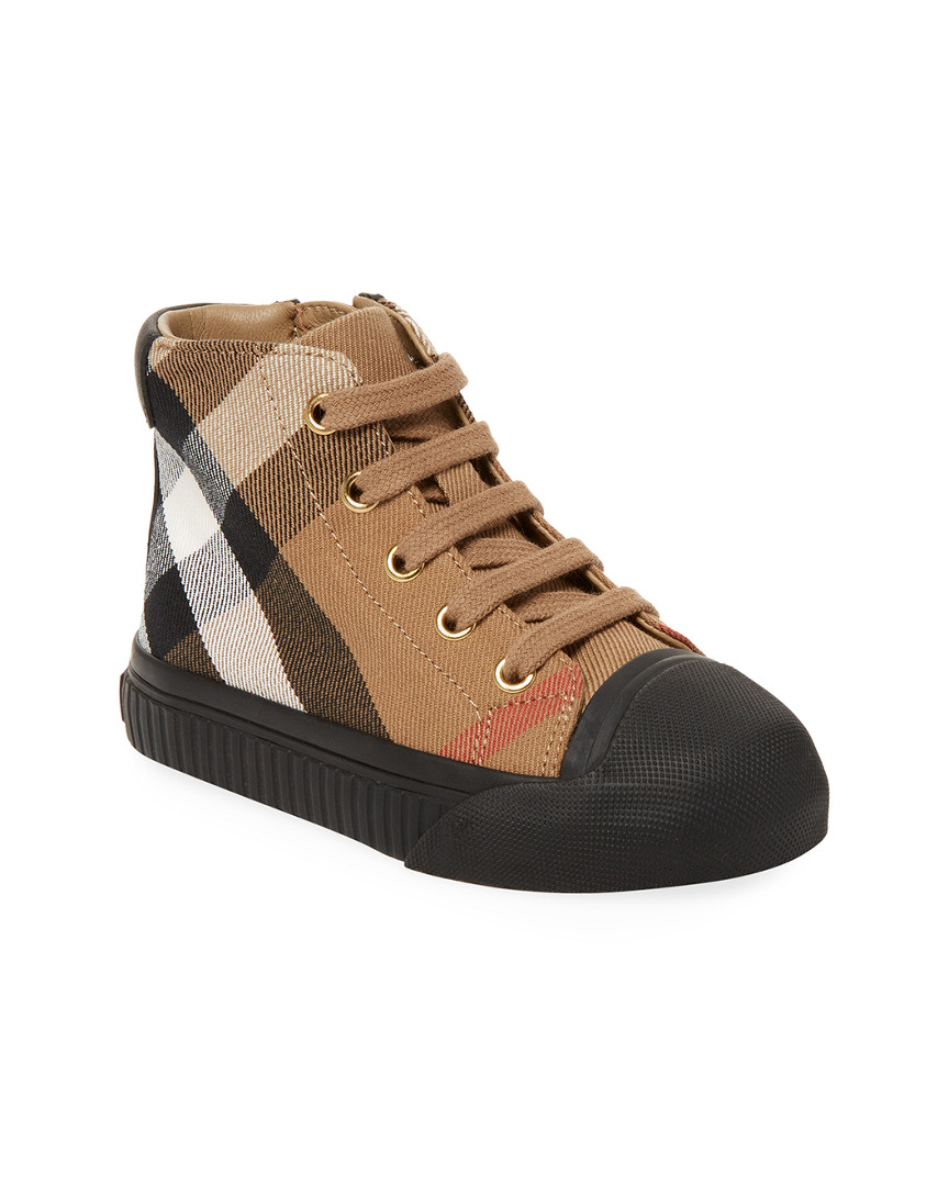 PLAID ACCENTED LEATHER BOOT