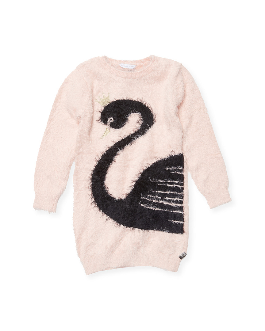 CROWNED SWAN SWEATER DRESS