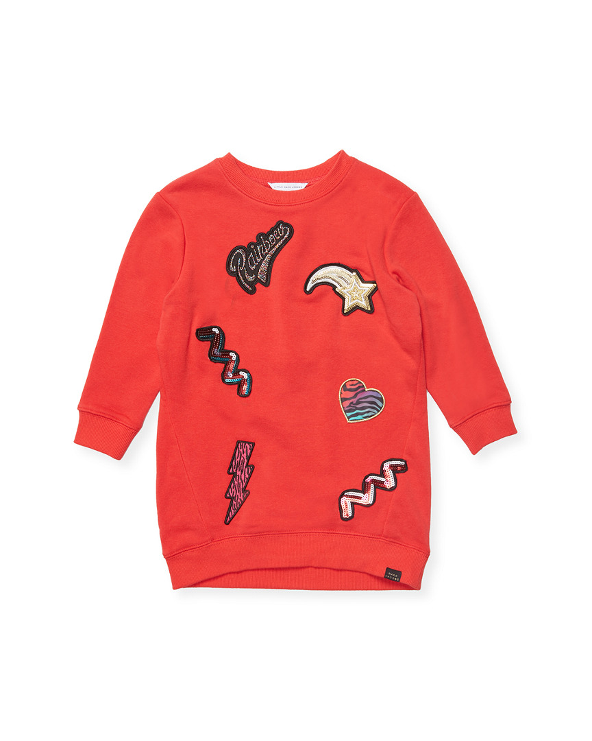 PATCHES SWEATER DRESS