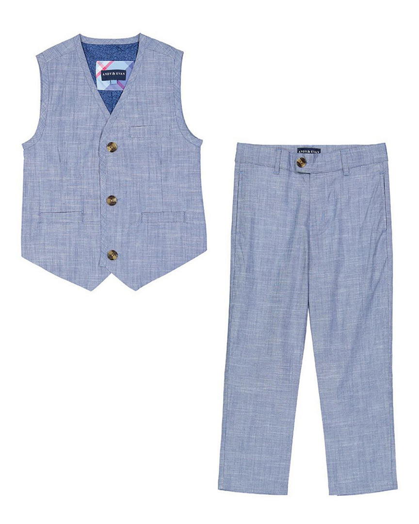 FOR GENTLEMEN SOLID VEST & PANT SET