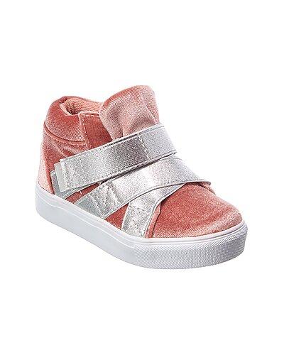 Rue La La — Hoo Elastic Crisscross Velvet High-Top Sneaker