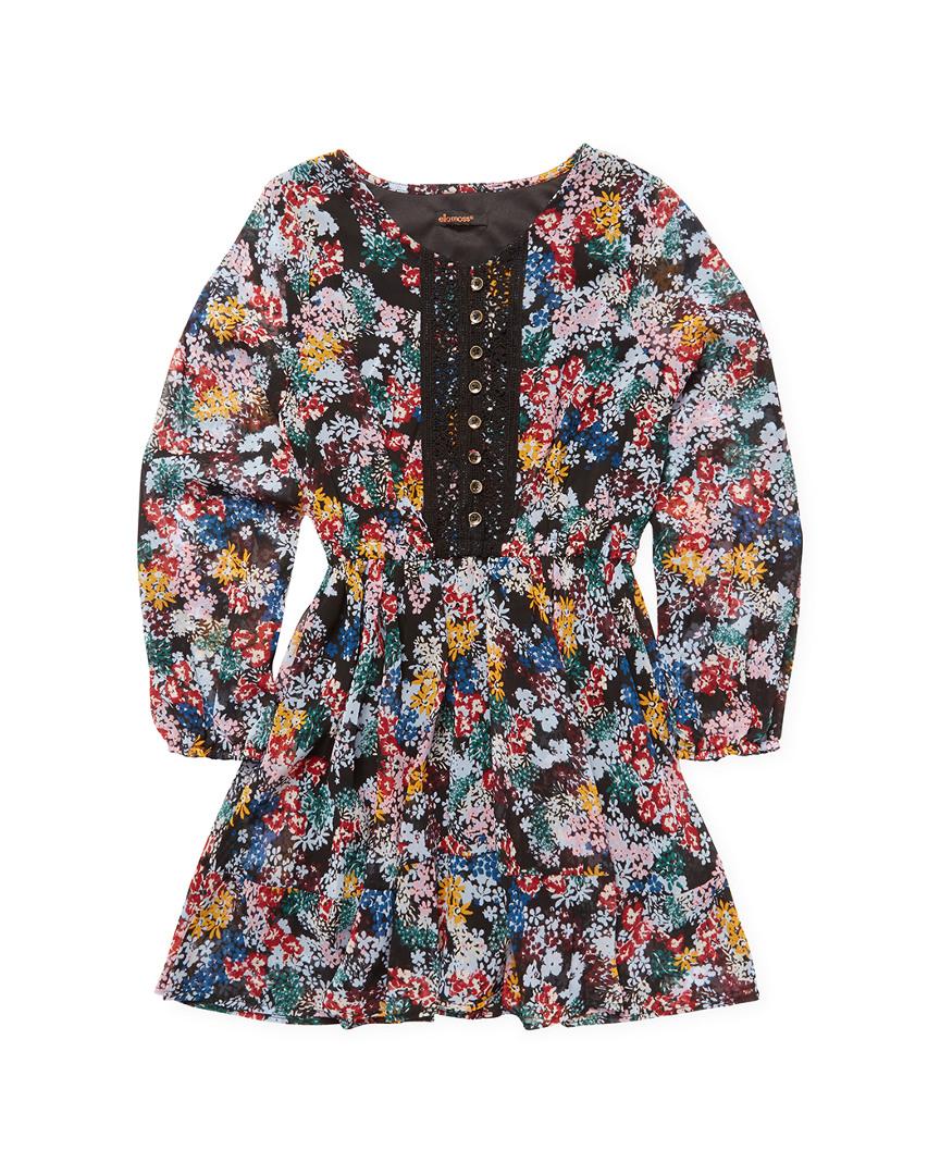 FLORA PRINTED PEASANT DRESS