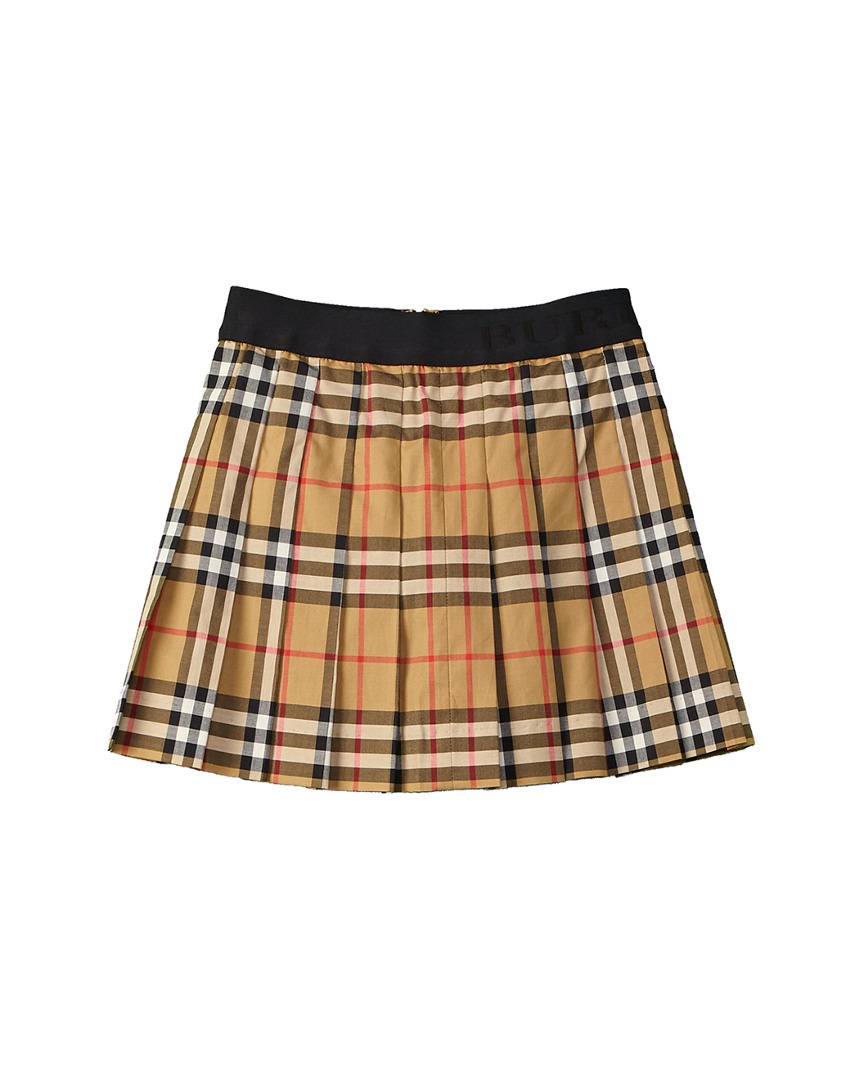 PLEATED VINTAGE CHECK SKIRT