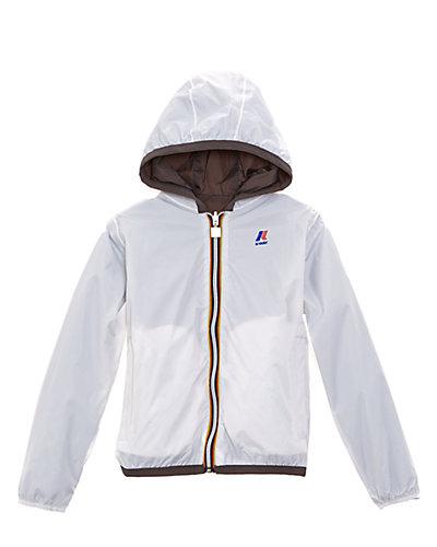 K-Way Boys' White & Steel Lily Jacques Plus Jacket