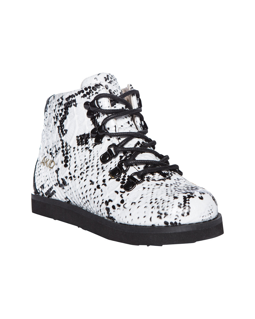 JASPER EMBOSSED SNAKESKIN BOOT