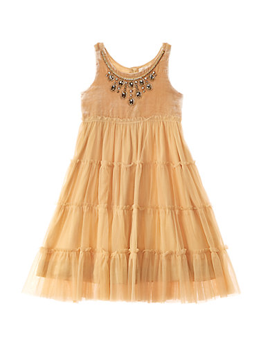 Cupcake & Pastries Girls' Cream Velvet Dress