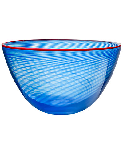 Kosta Boda Small Red Rim Bowl