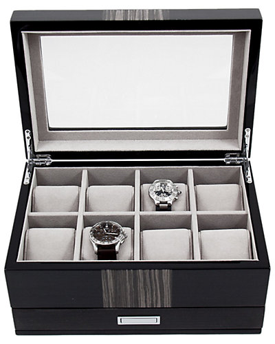 Lacquered Wood 8-Watch Box