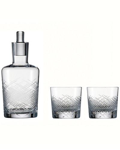 """Schott Zwiesel 1872 """"Hommage"""" 3pc 16.8oz Carafe & 13.4oz Whiskey Glass Set"""
