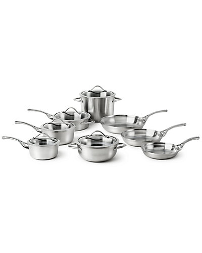 "Calphalon ""Contemporary Stainless"" 13pc Cookware Set"
