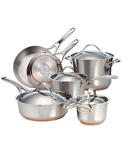 Anolon Nouvelle Copper 10pc Cookware Set