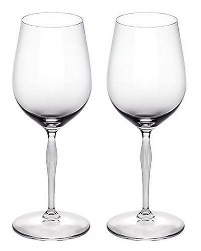 Lalique 100 Point Set of Two 11.83oz Tasting Wine Glasses