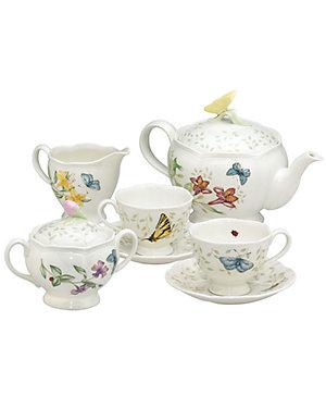 Deals on Lenox Butterfly Meadow 9pc Tea Set