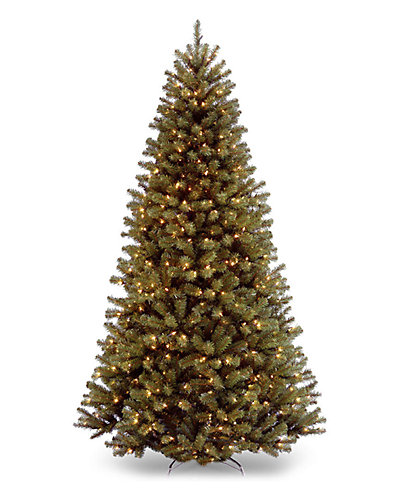 7.5ft 6in North Valley Spruce Hinged Tree with 550 Low Voltage Dual Color LED Lights