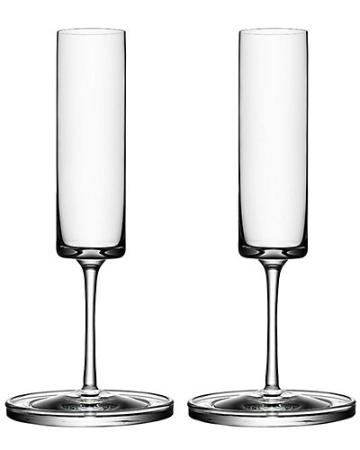 Orrefors by Karl Lagerfeld Set of 2 Flutes