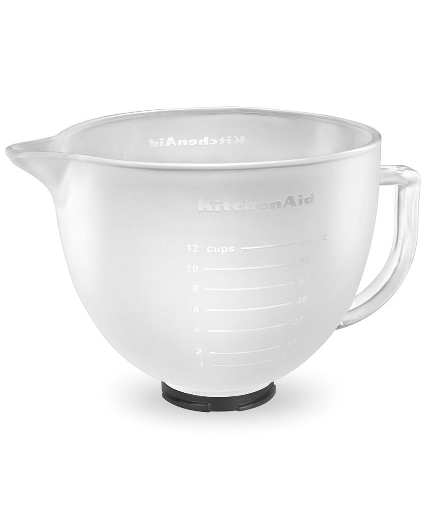 Kitchenaid 5Qt Frosted Bowl With Measurement Markings, Pour Spout, Lid photo