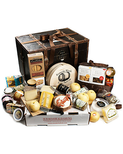 igourmet 31pc Fruit & Cheese Gift Trunk