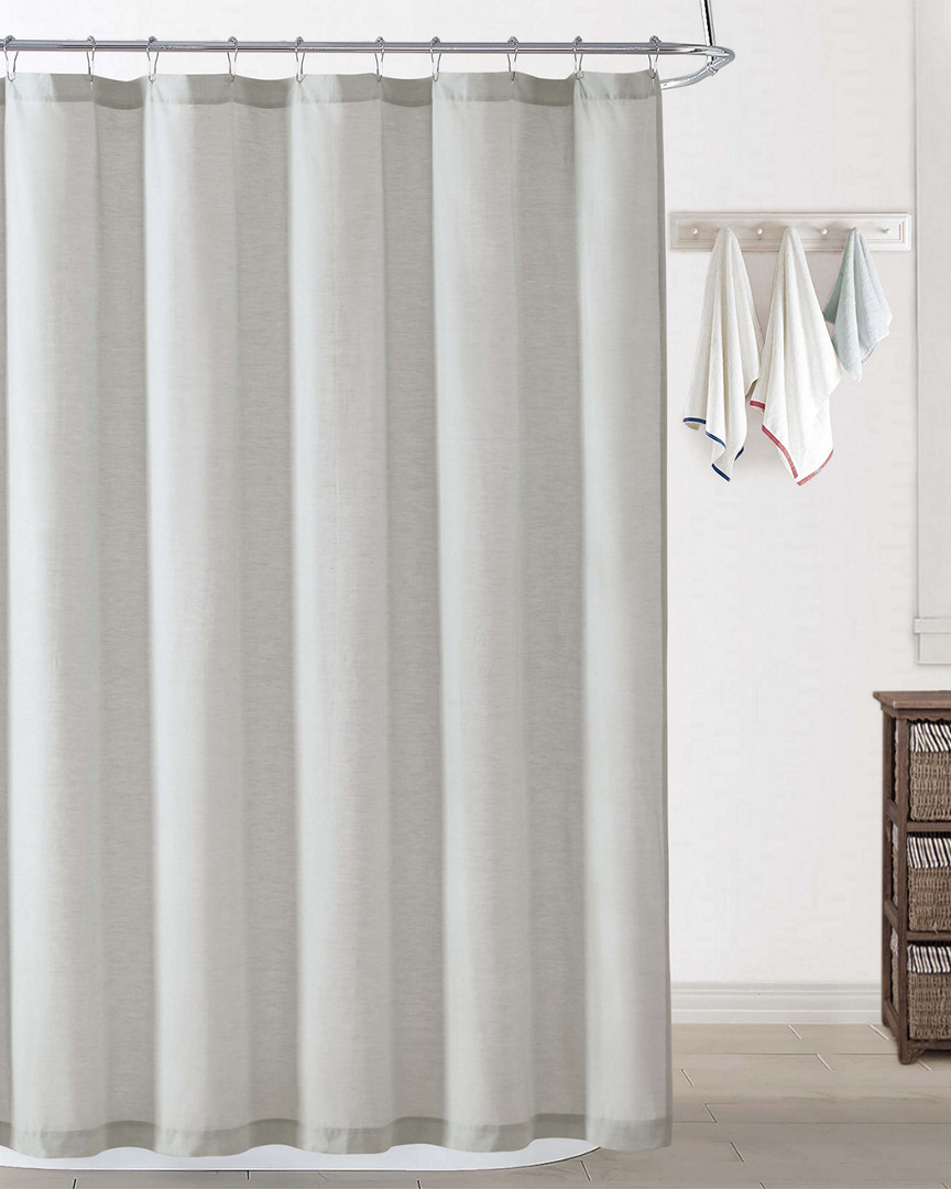 Oceanfront Resort Chambray Coast Silver Shower Curtain (Home & Garden Linens & Bedding Bedding) photo