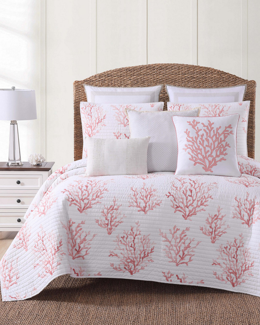 Oceanfront Resort Cove Coral Quilt Set (Home & Garden Linens & Bedding Bedding) photo